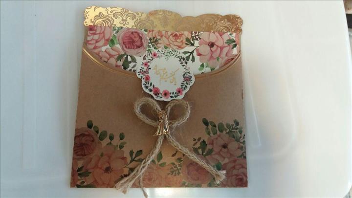 کارت عروسی کلاسیک نیاورانی